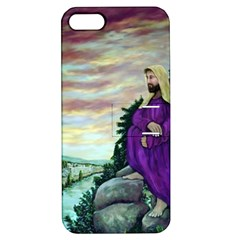 Jesus Overlooking Jerusalem - Ave Hurley - ArtRave - Apple iPhone 5 Hardshell Case with Stand