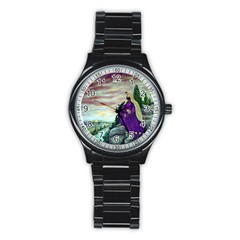 Jesus Overlooking Jerusalem - Ave Hurley - ArtRave - Sport Metal Watch (Black)