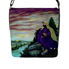Jesus Overlooking Jerusalem - Ave Hurley - ArtRave - Flap Closure Messenger Bag (Large)
