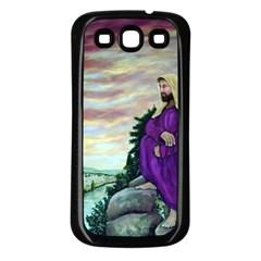 Jesus Overlooking Jerusalem   Ave Hurley   Artrave   Samsung Galaxy S3 Back Case (black)