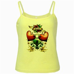 Love Yellow Spaghetti Tank