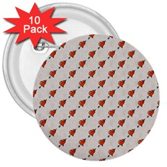 Hearts 3  Button (10 pack)