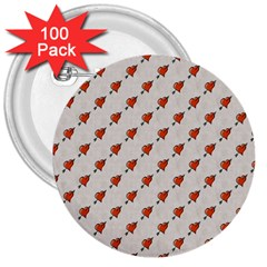 Hearts 3  Button (100 pack)