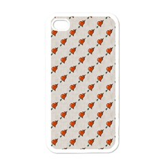 Hearts Apple iPhone 4 Case (White)