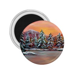 Jane s Winter Sunset   by Ave Hurley of ArtRevu ~ 2.25  Magnet