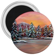 jane s Winter Sunset   By Ave Hurley Of Artrevu   3  Magnet