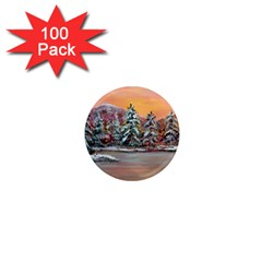 jane s Winter Sunset   By Ave Hurley Of Artrevu   1  Mini Magnet (100 Pack)