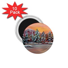 jane s Winter Sunset   By Ave Hurley Of Artrevu   1 75  Magnet (10 Pack)