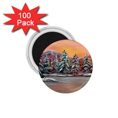 jane s Winter Sunset   By Ave Hurley Of Artrevu   1 75  Magnet (100 Pack)