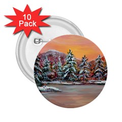jane s Winter Sunset   By Ave Hurley Of Artrevu   2 25  Button (10 Pack)