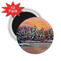 Jane s Winter Sunset   by Ave Hurley of ArtRevu ~ 2.25  Magnet (10 pack)