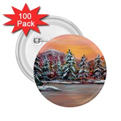 Jane s Winter Sunset   by Ave Hurley of ArtRevu ~ 2.25  Button (100 pack)