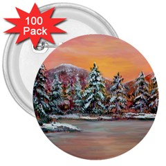 jane s Winter Sunset   By Ave Hurley Of Artrevu   3  Button (100 Pack)