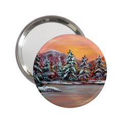 Jane s Winter Sunset   by Ave Hurley of ArtRevu ~ 2.25  Handbag Mirror
