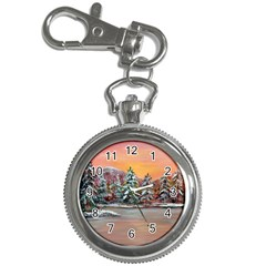Jane s Winter Sunset   by Ave Hurley of ArtRevu ~ Key Chain Watch