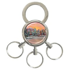 Jane s Winter Sunset   by Ave Hurley of ArtRevu ~ 3-Ring Key Chain