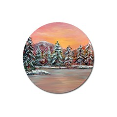 Jane s Winter Sunset   by Ave Hurley of ArtRevu ~ Magnet 3  (Round)