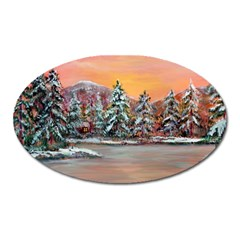 jane s Winter Sunset   By Ave Hurley Of Artrevu   Magnet (oval)