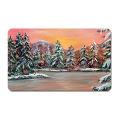 Jane s Winter Sunset   by Ave Hurley of ArtRevu ~ Magnet (Rectangular)