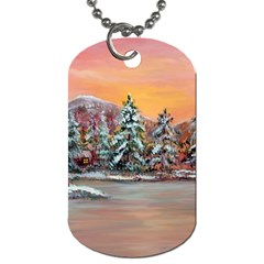 Jane s Winter Sunset   by Ave Hurley of ArtRevu ~ Dog Tag (One Side)
