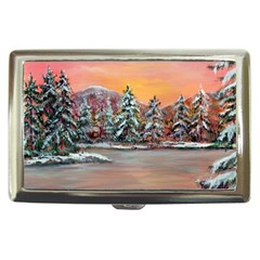 jane s Winter Sunset   By Ave Hurley Of Artrevu   Cigarette Money Case