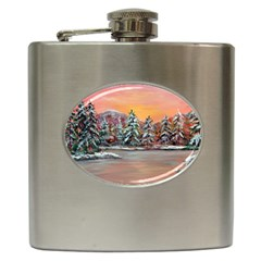 jane s Winter Sunset   By Ave Hurley Of Artrevu   Hip Flask (6 Oz)