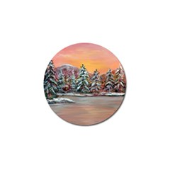 Jane s Winter Sunset   by Ave Hurley of ArtRevu ~ Golf Ball Marker (4 pack)