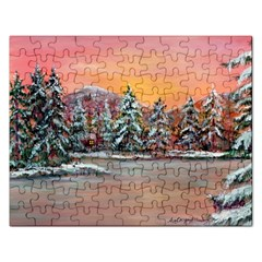 Jane s Winter Sunset   by Ave Hurley of ArtRevu ~ Jigsaw Puzzle (Rectangular)
