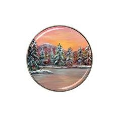 Jane s Winter Sunset   by Ave Hurley of ArtRevu ~ Hat Clip Ball Marker (4 pack)