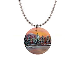 Jane s Winter Sunset   by Ave Hurley of ArtRevu ~ 1  Button Necklace