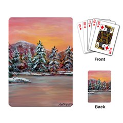 Jane s Winter Sunset   by Ave Hurley of ArtRevu ~ Playing Cards Single Design