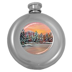 jane s Winter Sunset   By Ave Hurley Of Artrevu   Hip Flask (5 Oz)