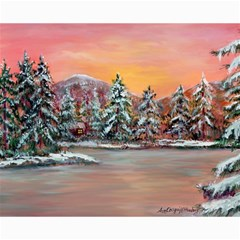 Jane s Winter Sunset   by Ave Hurley of ArtRevu ~ Canvas 16  x 20