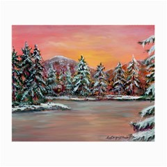 Jane s Winter Sunset   by Ave Hurley of ArtRevu ~ Small Glasses Cloth (2 Sides)