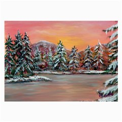 Jane s Winter Sunset   by Ave Hurley of ArtRevu ~ Large Glasses Cloth (2 Sides)