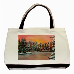 Jane s Winter Sunset   by Ave Hurley of ArtRevu ~ Basic Tote Bag (Two Sides)