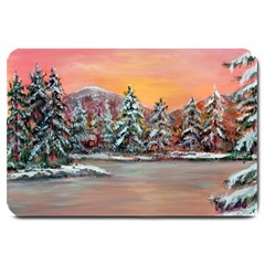 Jane s Winter Sunset   by Ave Hurley of ArtRevu ~ Large Doormat