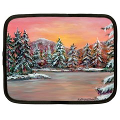 Jane s Winter Sunset   by Ave Hurley of ArtRevu ~ Netbook Case (Large)