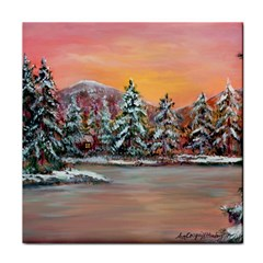 Jane s Winter Sunset   by Ave Hurley of ArtRevu ~ Face Towel