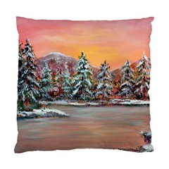 Jane s Winter Sunset   by Ave Hurley of ArtRevu ~ Standard Cushion Case (Two Sides)
