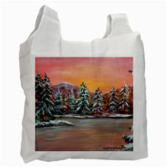 Jane s Winter Sunset   by Ave Hurley of ArtRevu ~ Recycle Bag (Two Side)