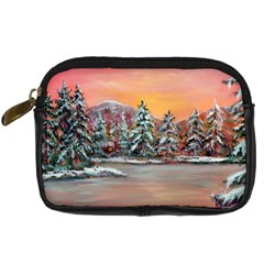 Jane s Winter Sunset   by Ave Hurley of ArtRevu ~ Digital Camera Leather Case