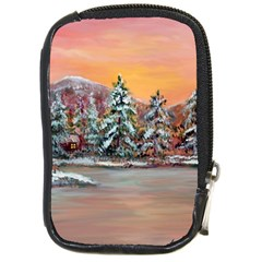 Jane s Winter Sunset   by Ave Hurley of ArtRevu ~ Compact Camera Leather Case