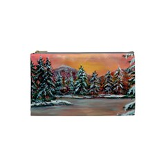 Jane s Winter Sunset   by Ave Hurley of ArtRevu ~ Cosmetic Bag (Small)