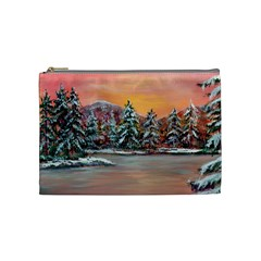 Jane s Winter Sunset   by Ave Hurley of ArtRevu ~ Cosmetic Bag (Medium)