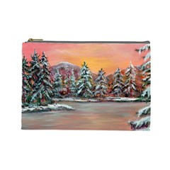 jane s Winter Sunset   By Ave Hurley Of Artrevu   Cosmetic Bag (large)