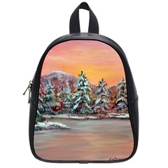 jane s Winter Sunset   By Ave Hurley Of Artrevu   School Bag (small)