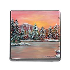Jane s Winter Sunset   by Ave Hurley of ArtRevu ~ Memory Card Reader (Square)