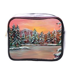 Jane s Winter Sunset   by Ave Hurley of ArtRevu ~ Mini Toiletries Bag (One Side)