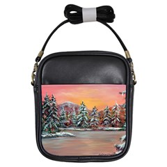 Jane s Winter Sunset   by Ave Hurley of ArtRevu ~ Girls Sling Bag